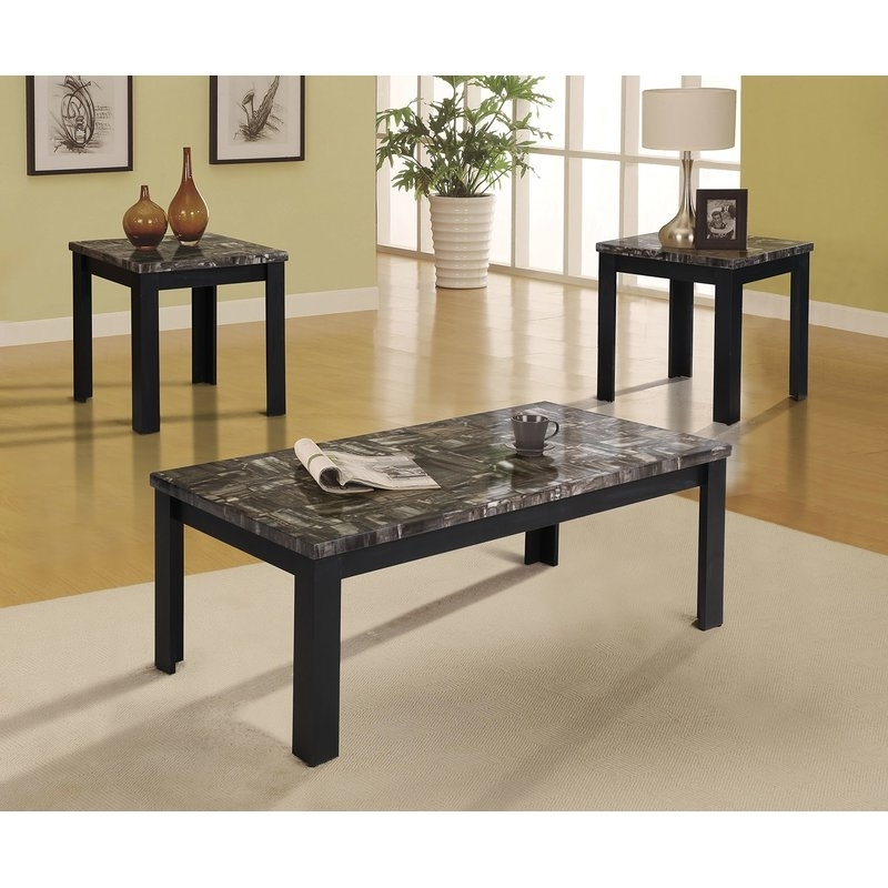 Preferred Carly Rectangle Dining Tables Intended For A&j Homes Studio Carly 3 Piece Coffee Table Set (View 19 of 20)