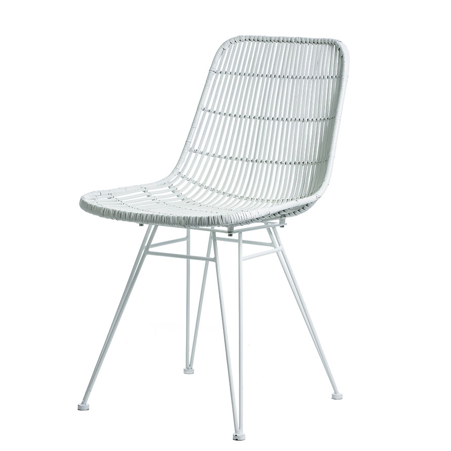 Preferred Cebu Rattan Dining Chair White – Furniture – Chairs – Adairs Online Pertaining To White Dining Chairs (Gallery 13 of 20)