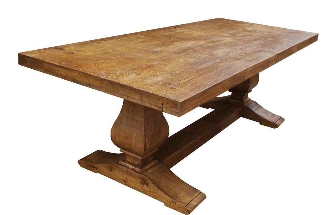 Preferred Cheap Reclaimed Wood Dining Tables With Regard To Hand Made Segovia Reclaimed Wood Trestle Dining Tablemortise (View 13 of 20)
