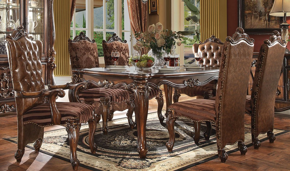 Preferred Classic Traditional Dining Table Set Room Furniture Light Fi Regarding Traditional Dining Tables (Gallery 11 of 20)