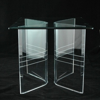 Preferred Clear Plastic Dining Tables For Clear Acrylic Lucite V Shaped Dining Table Bases – Buy Clear Acrylic (View 17 of 20)