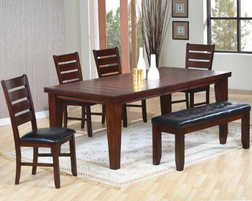 Preferred Contemporary Dark Rustic Oak Finish Solid Wood Dining Table Chairs With Dining Room Chairs Only (View 3 of 20)