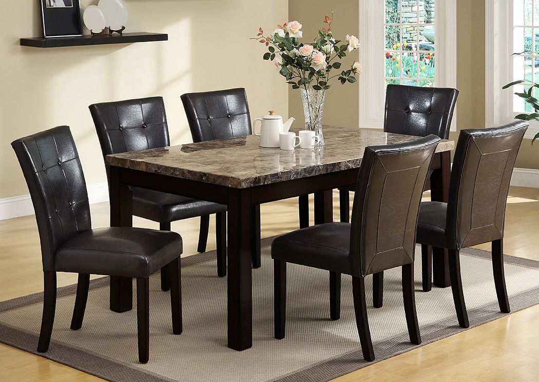 Preferred Craftsman 7 Piece Rectangle Extension Dining Sets With Side Chairs Pertaining To Meyers & Tabakin Inc Bruce Rectangular Dining Table W/4 Side Chairs (View 18 of 20)