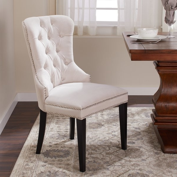 Preferred Dining Chairs With Blue Loose Seat In Shop Abbyson Versailles Tufted Velvet Dining Chair – On Sale – Free (View 11 of 20)