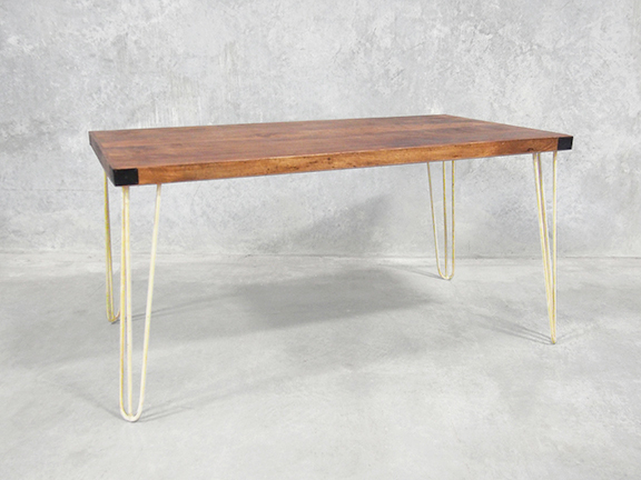 Preferred Dining Tables With White Legs Pertaining To Dining Table With Hairpin Legs (View 17 of 20)