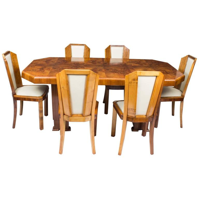 Preferred Early Art Deco Sezession Dining Table And Six Chairs For Sale At 1Stdibs With Dining Tables And Six Chairs (Gallery 18 of 20)