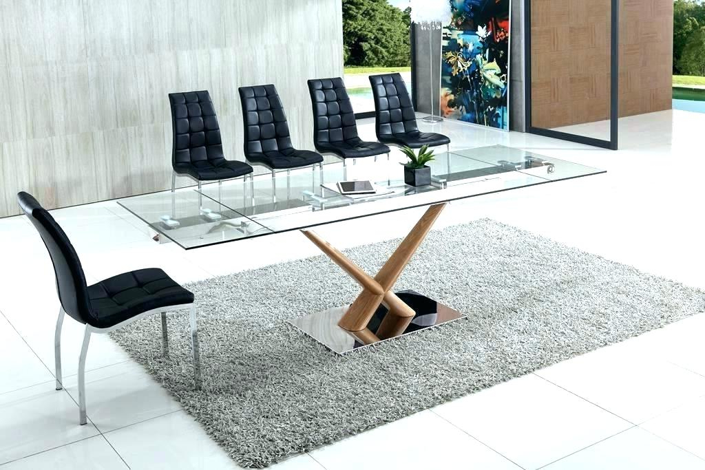 Preferred Extendable Glass Dining Table Sets Set Modern Small Regarding Extendable Glass Dining Tables (Gallery 14 of 20)