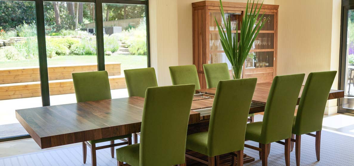 Preferred Extending Dining Tables Set Within Extending Dining Tables In Solid Oak / Walnut, Contemporary Tables (View 5 of 20)