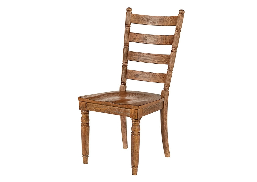 Preferred Furniture & More Galleries Slat Back Chair, Bench Finish (set Of 2) With Regard To Magnolia Home Harper Patina Side Chairs (View 14 of 20)