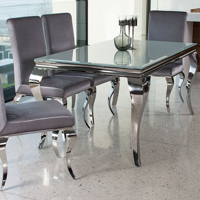 Preferred Glass And Chrome Dining Tables And Chairs Pertaining To (View 3 of 20)