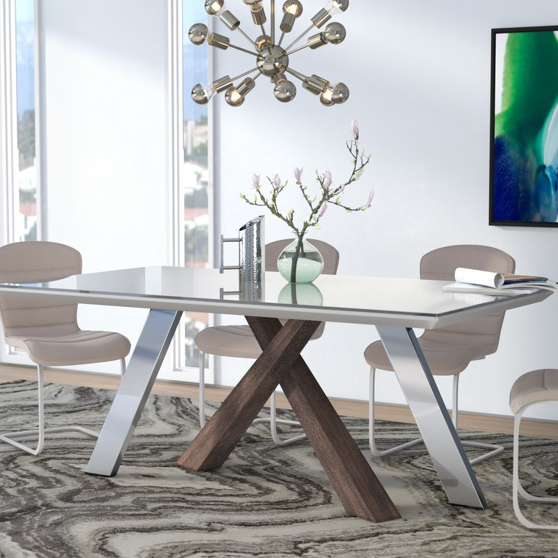 Preferred Grady Round Dining Tables Throughout Wade Logan Link Dining Table & Reviews (View 17 of 20)