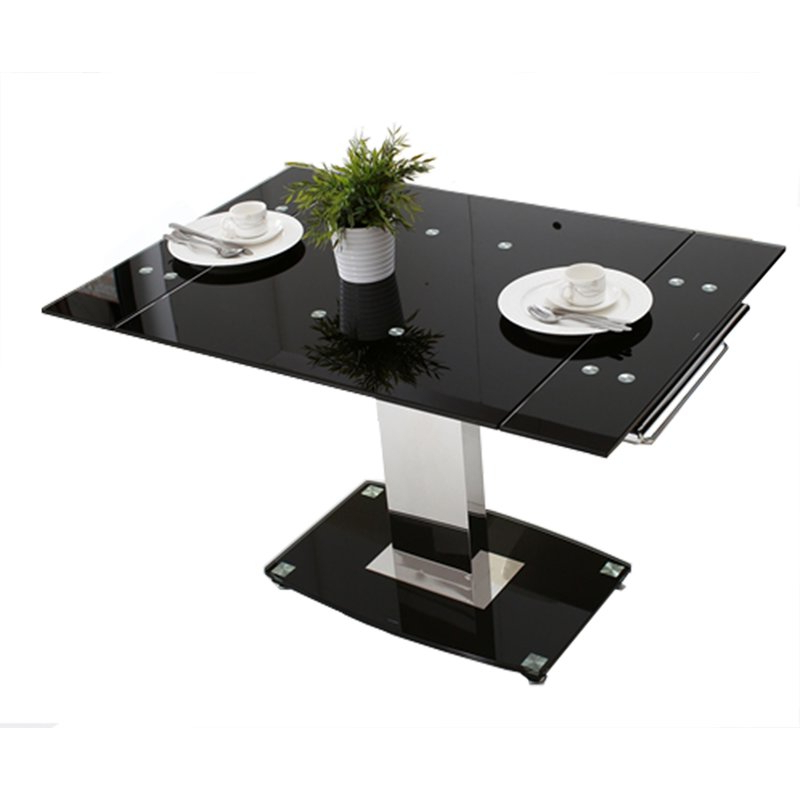 Preferred Hokku Designs Glass Extendable Dining Table (View 16 of 20)
