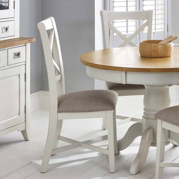 Preferred Ivory Painted Dining Tables Intended For Bordeaux Painted Ivory Double Cross Back Dining Chairs, 2 Pack (View 16 of 20)