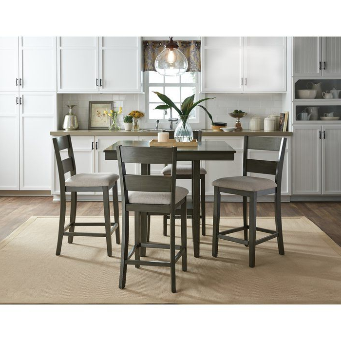 Preferred Jameson Grey 5 Piece Counter Sets With Croley 5 Piece Dining Set (View 13 of 20)