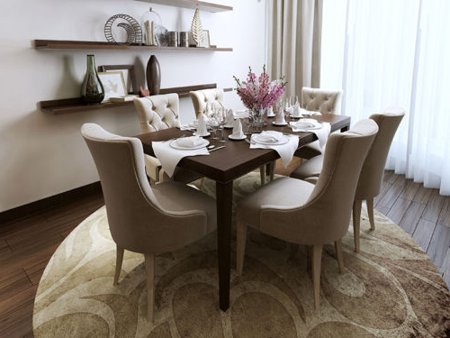 Preferred Leather, Wood Or Fabric: Find Your Ideal Dining Room Chair Throughout Fabric Dining Room Chairs (View 14 of 20)