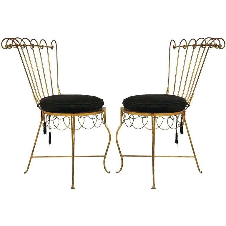 Preferred Metal Side Chair – Figurelinks Inside Magnolia Home Peacock Blackened Bronze Metal Side Chairs (View 17 of 20)