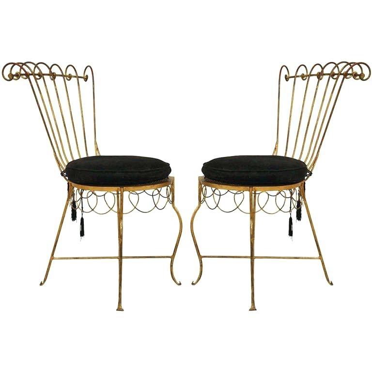 Preferred Metal Side Chair – Figurelinks Inside Magnolia Home Peacock Blackened Bronze Metal Side Chairs (View 20 of 20)