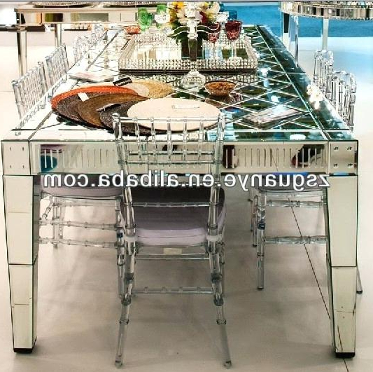 Preferred Mirror Glass Dining Tables Regarding Mirror Dining Table Dining Tables Mirror Dining Table Round Elation (View 12 of 20)