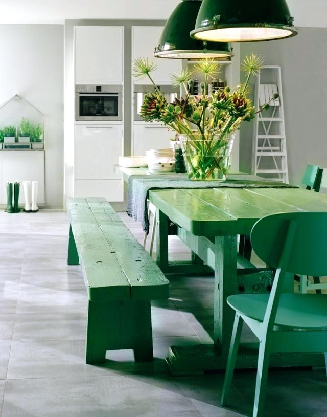 Preferred Modern Kitchen Chairs View In Gallery Bright Green Around A White Pertaining To Green Dining Tables (Gallery 13 of 20)
