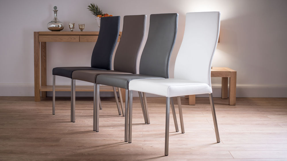 Preferred Modern Real Leather Dining Chairs (Gallery 1 of 20)