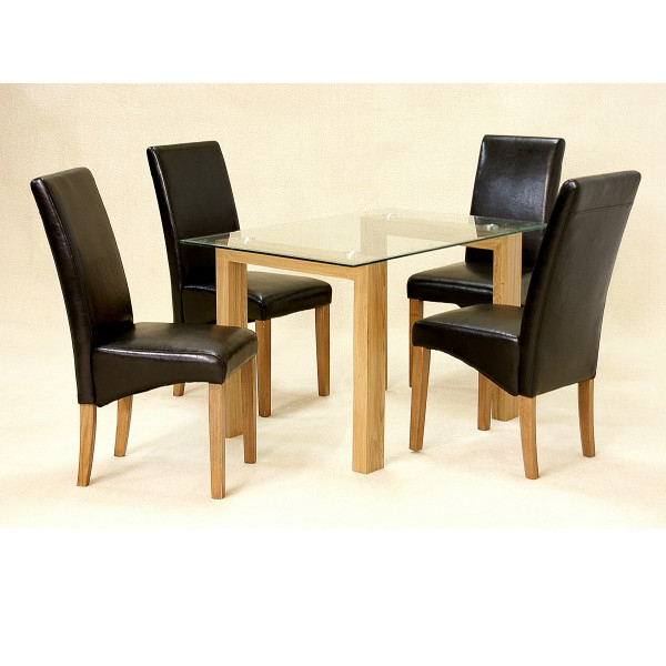 Preferred Oak Dining Set With Small Extending Dining Tables And 4 Chairs (View 16 of 20)