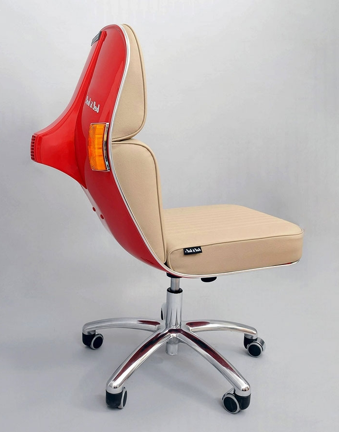 Preferred Old Vespas Turned Into Modern Office Chairs (View 10 of 20)