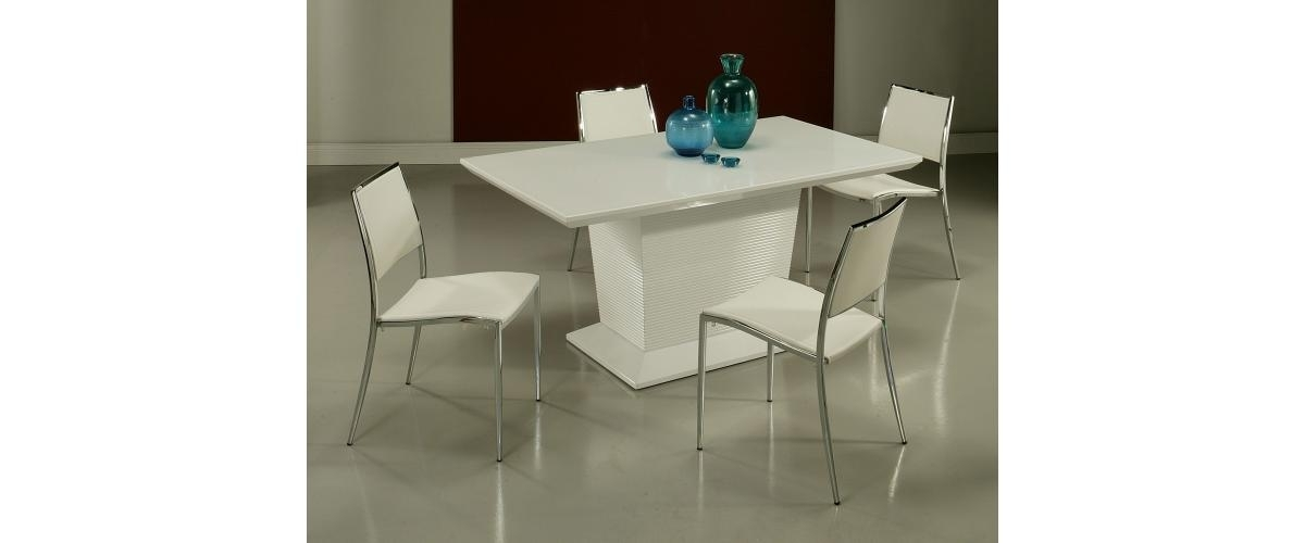Preferred Omni Side Chairs Intended For Pastel Le Meridian Dining Table With Omni Side Chair – Glossy White (View 8 of 20)