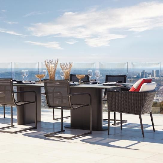Preferred Palazzo 7 Piece Rectangle Dining Sets With Joss Side Chairs Inside Palazzo Carbon 7 Pc (View 17 of 20)
