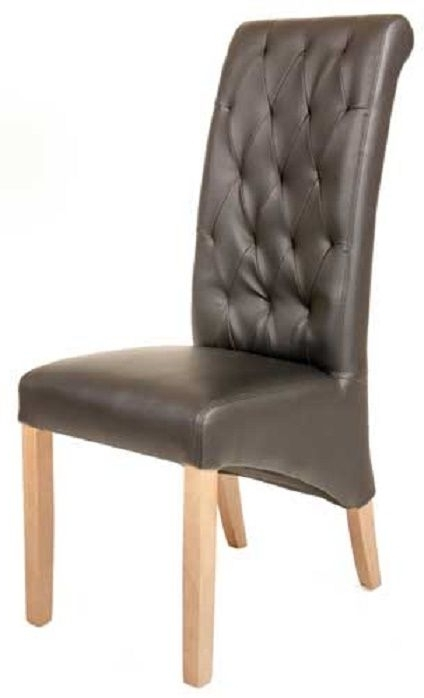 Preferred Quilted Leather Dining Chairs – Bristow – Cafe Reality In Quilted Brown Dining Chairs (View 12 of 20)