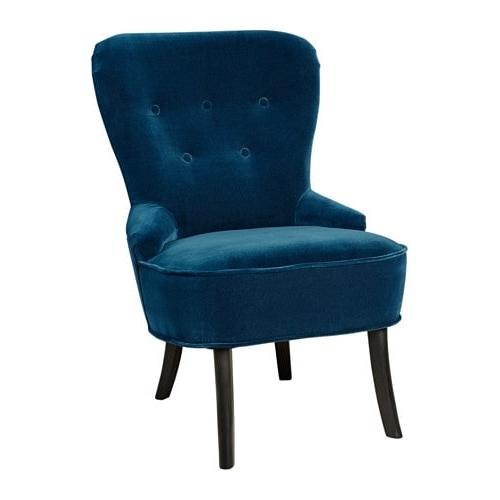 Preferred Remsta Armchair – Djuparp Dark Green Blue – Ikea With Pilo Blue Side Chairs (View 16 of 20)