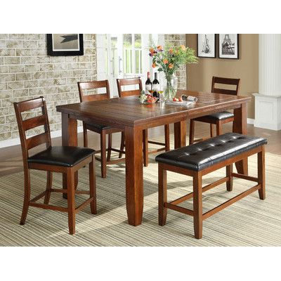 Preferred Rocco 8 Piece Extension Counter Sets Pertaining To Loon Peak Bridlewood 5 Piece Dining Set Finish: (View 14 of 20)