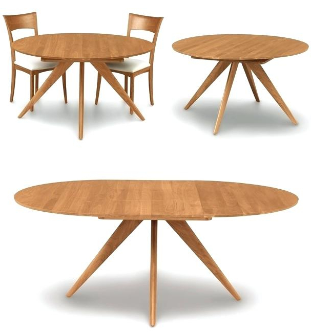 Preferred Round Dining Tables Extends To Oval Pertaining To Round Dining Table Extends To Oval For Dining Table Set (View 14 of 20)