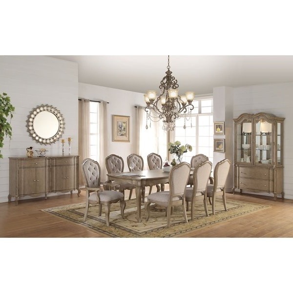 Preferred Shop Acme Chelmsford Dining Table, Antique Taupe – Free Shipping Pertaining To Helms 7 Piece Rectangle Dining Sets With Side Chairs (View 17 of 20)