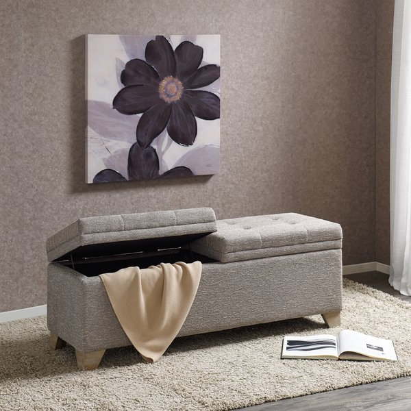 Preferred Shop Madison Park Jaxon Grey Multi Storage Bench – On Sale – Free For Jaxon 6 Piece Rectangle Dining Sets With Bench & Uph Chairs (View 16 of 20)