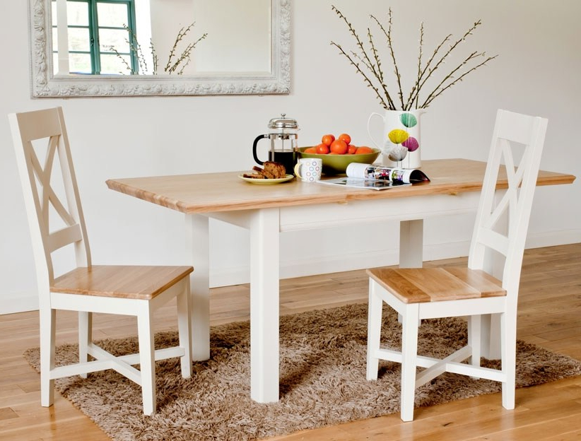 Preferred Small Extending Dining Table Sets – Castrophotos Throughout Small White Extending Dining Tables (View 8 of 20)