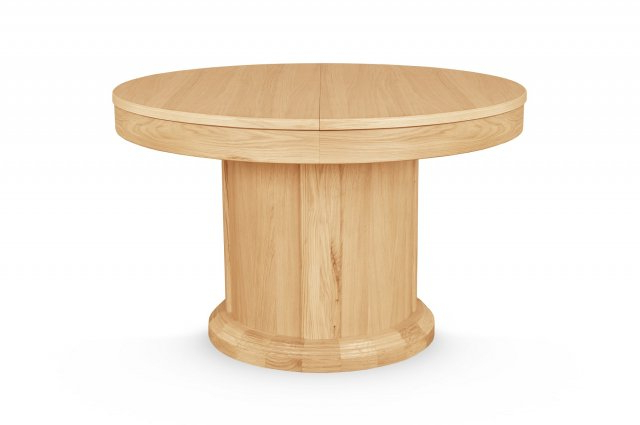 Preferred Sorento Oak Round Extending Dining Table – Round / Oval Regarding Round Dining Tables Extends To Oval (Gallery 17 of 20)