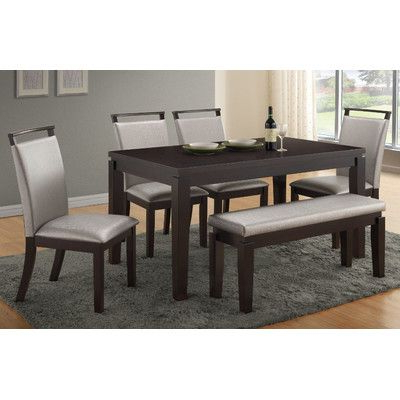 Preferred Wade Logan Carmichael 6 Piece Dining Set (View 15 of 20)