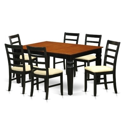 Preferred Wooden Importers Logan 7 Piece Dining Set (View 15 of 20)
