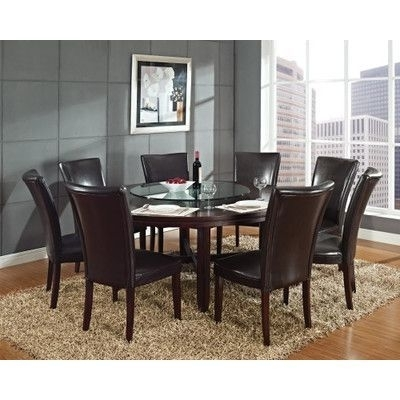 Products Pertaining To Newest Caden 7 Piece Dining Sets With Upholstered Side Chair (View 15 of 20)