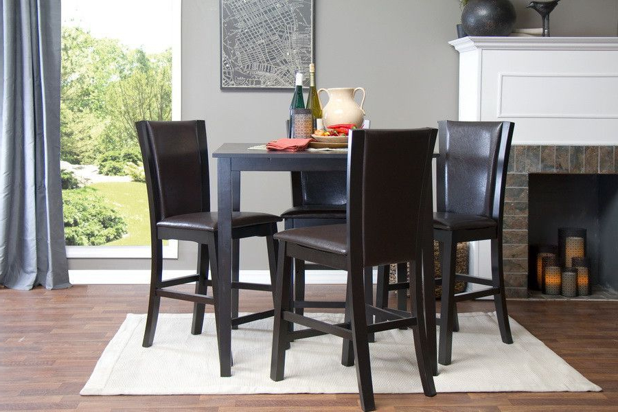 Products With Laurent 7 Piece Counter Sets With Upholstered Counterstools (View 13 of 20)