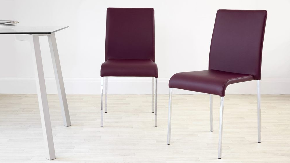 Purple Dining Chairs, Dining Chairs And Regarding Purple Faux Leather Dining Chairs (View 7 of 20)