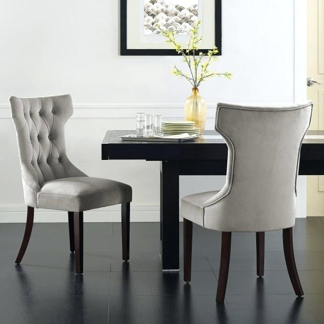 Purple Faux Leather Dining Chairs With Popular Faux Leather Dining Room Chairs Small Images Of Modern Purple Dining (View 13 of 20)