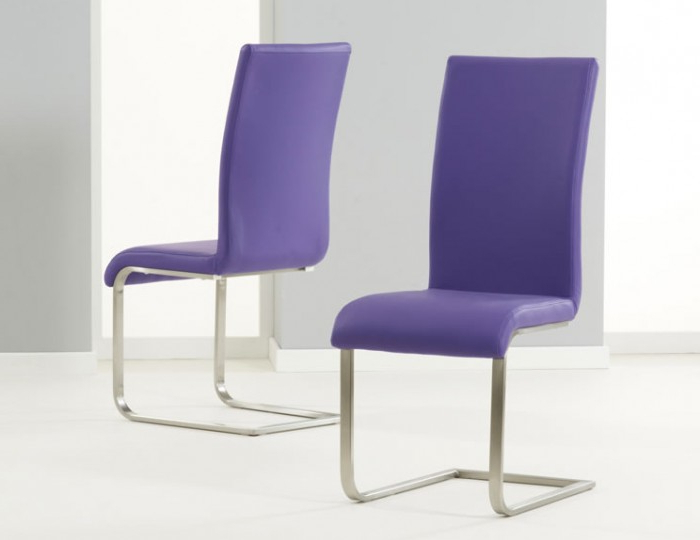 Purple Faux Leather Dining Chairs With Regard To Famous Monterey Purple Faux Leather Dining Chairs (Gallery 1 of 20)