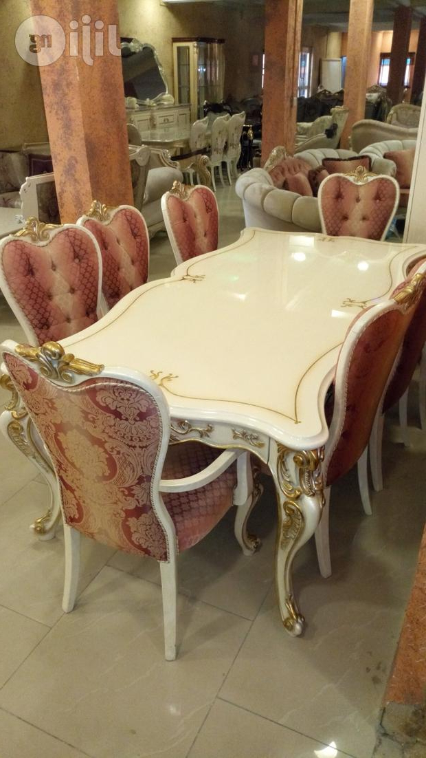 Quality Wooden Royal Dining Table With Eight Chairs In Ikeja Intended For Preferred Royal Dining Tables (View 11 of 20)