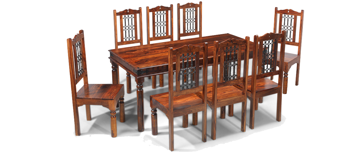 Quercus Living With Most Recent Sheesham Dining Tables 8 Chairs (View 10 of 20)