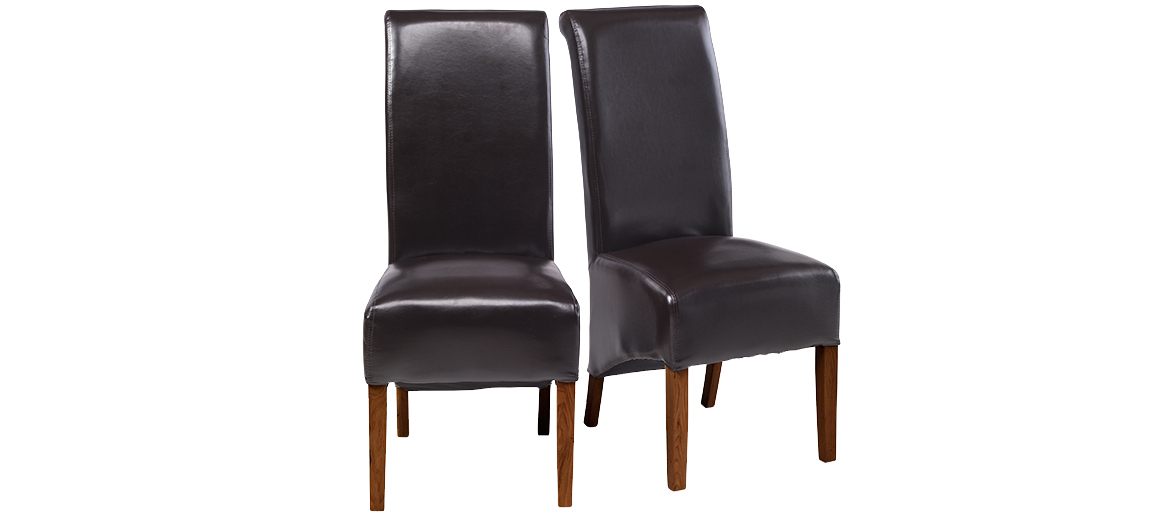 Quercus Living Within Well Known Dark Brown Leather Dining Chairs (View 16 of 20)