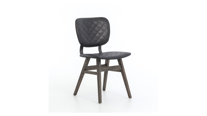 Quilted Black Dining Chairs Regarding Most Popular Sloan Dining Chair In Brown Or Black (View 11 of 20)
