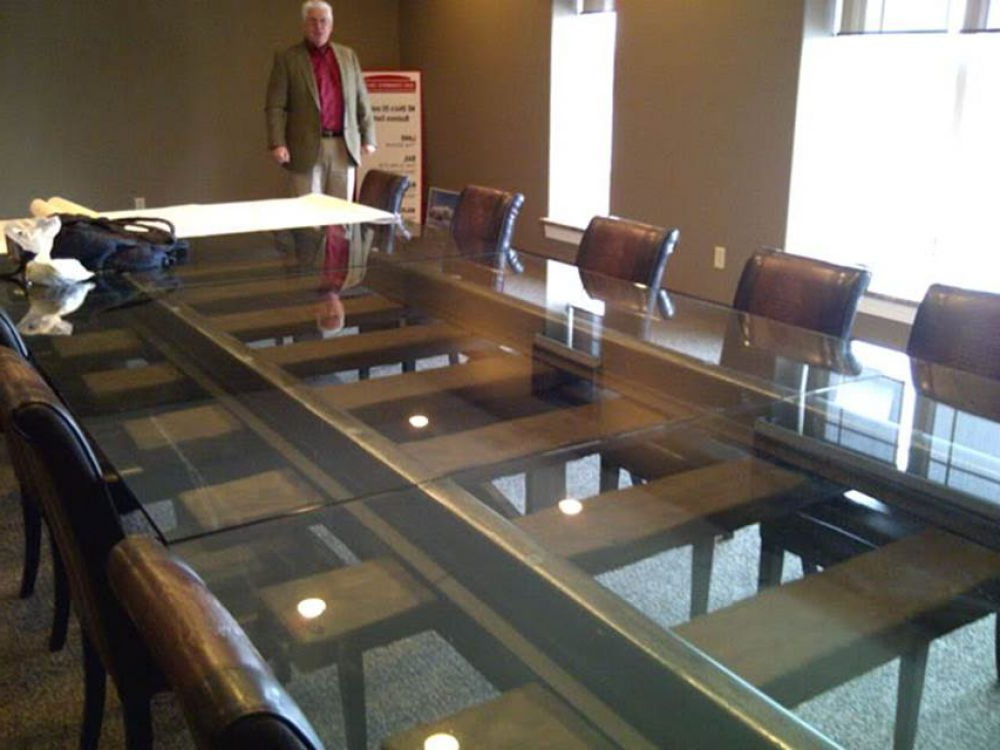 Railway Dining Tables In Popular Table Made From Railway Sleepers, Rails And Glass (View 9 of 20)