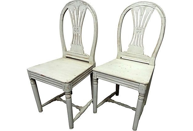 Ranger Side Chairs Pertaining To Preferred Gustavian Style Wood Chairs, Pair On Onekingslane – Lone Ranger (View 16 of 20)