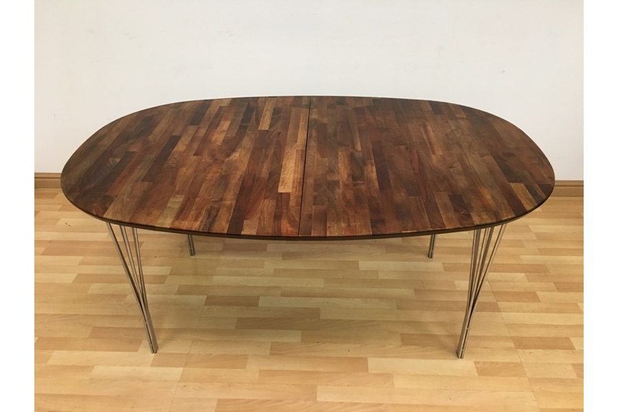 Rare Vintage Danish Parquet Dining Table On Hairpin Legshaslev Regarding Best And Newest Parquet Dining Tables (View 17 of 20)